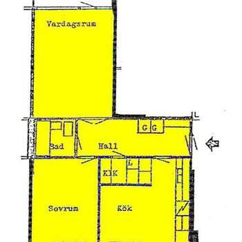 2 rum lägenhet i Märsta
